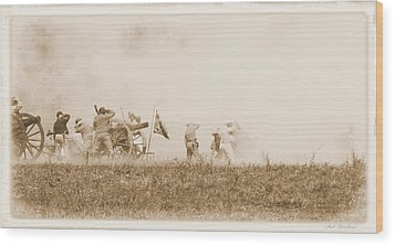 Wood Print featuring the photograph In The Heat Of Battle by Judi Quelland