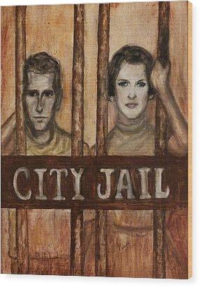 In The Jailhouse Now Wood Print by Regina Brandt