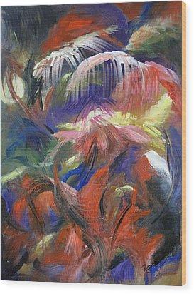 In The Jungle Wood Print by Roberta Rotunda
