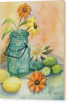 In The Lime Light Wood Print by Marilyn Smith