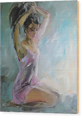 In The Morning Wood Print by Nelya Shenklyarska