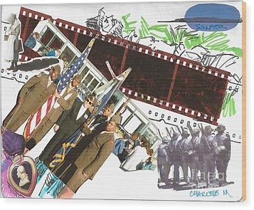 In The Name Of Freedom Wood Print by Charles M Williams