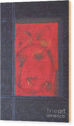 Wood Print featuring the painting In The Night Sky by Mini Arora