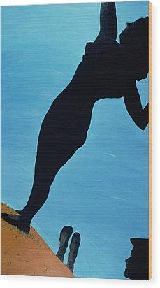 In The Public Eye, 1998 Wood Print by Marjorie Weiss