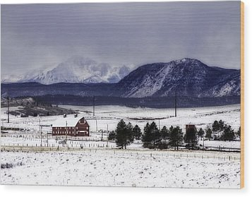Wood Print featuring the photograph In The Shadow Of Pike's Peak by Kristal Kraft