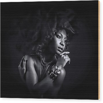 Wood Print featuring the photograph In The Shadows by Brian Tarr