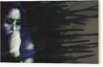 Wood Print featuring the photograph In The Shadows Of Doubt  by Jessica Shelton