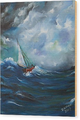 In The Storm Wood Print by Dorothy Maier