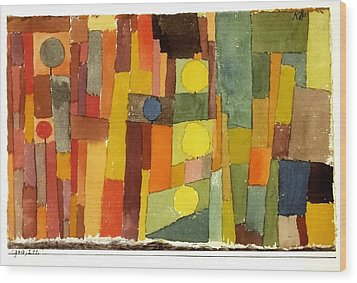 In The Style Of Kairouan Wood Print by Paul Klee