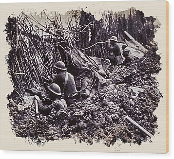In The Trenches Wood Print by Daniel Hagerman