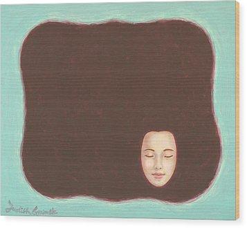 In The Void Wood Print by Judith Grzimek