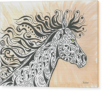 In The Wind Wood Print
