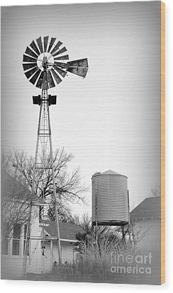 In The Windmills Of Your Mind Wood Print by Kathy  White
