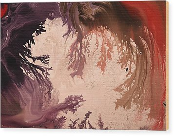In The World Of Reverie Dark Abstract Art By Kredart Wood Print by Serg Wiaderny