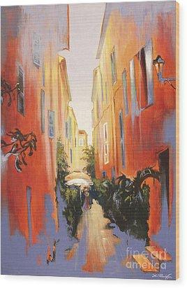 In Town Of Saint Tropez Wood Print