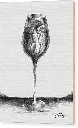 In Vino Veritas Wood Print by Boyan Donev