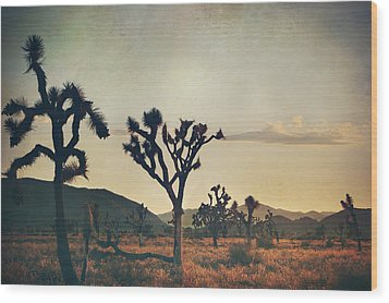 In Your Arms As The Sun Goes Down Wood Print by Laurie Search