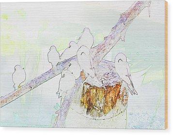 Inca Terns Wood Print