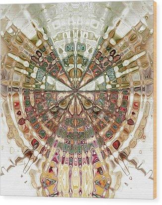 Incan Abstraction Wood Print by Amanda Moore