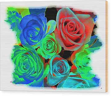 Incandescent Roses Wood Print by Will Borden