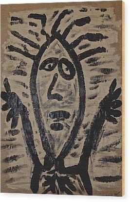 Incantation Wood Print by Mario Perron