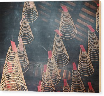Wood Print featuring the photograph Incense Coils by Lucinda Walter