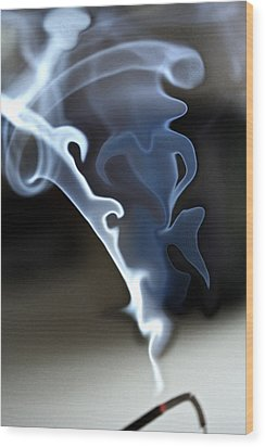 Incense Smoke Dance - Smoke - Dance Wood Print