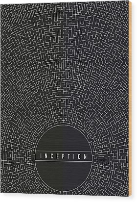 Inception Movie Poster Wood Print by Mike Taylor