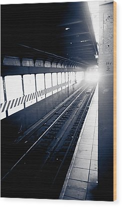 Wood Print featuring the photograph Incoming At The Subway - New York City by Peta Thames