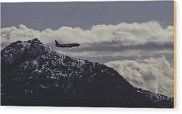 Incoming Flight Wood Print by Timothy Latta