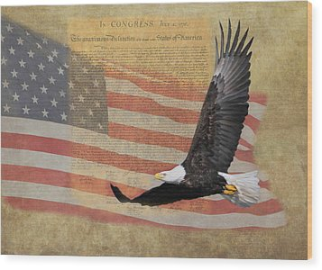 Independence Wood Print by Angie Vogel