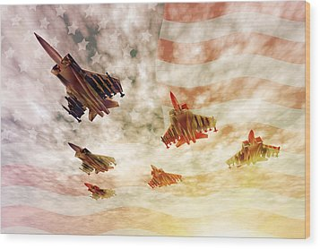 Independence Day Wood Print by Carol and Mike Werner