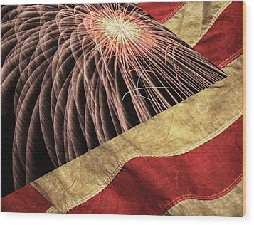 Independence Day  Wood Print by Lanjee Chee