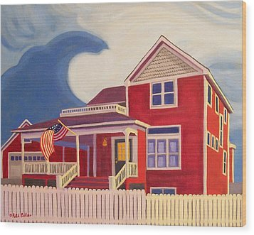 Independence Day Wood Print by Ruth Soller