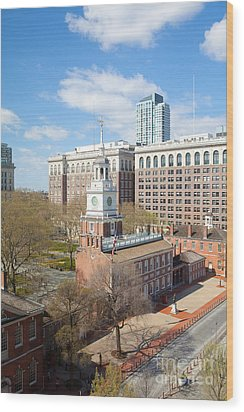 Independence Hall Philadelphia Wood Print by Kay Pickens