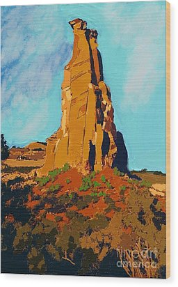 Independence Rock Wood Print by Craig Nelson