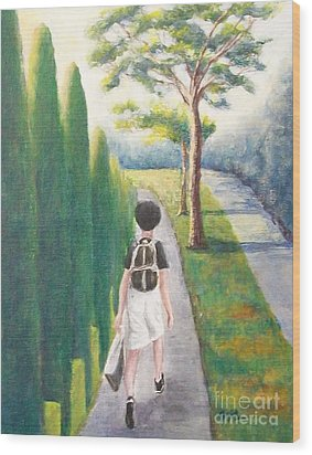 Wood Print featuring the painting Independent by Jane  See