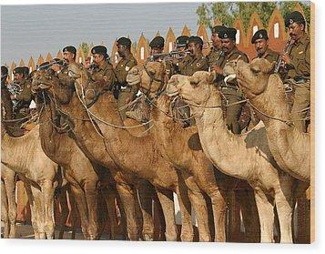 India Camel Band Wood Print by Henry Kowalski