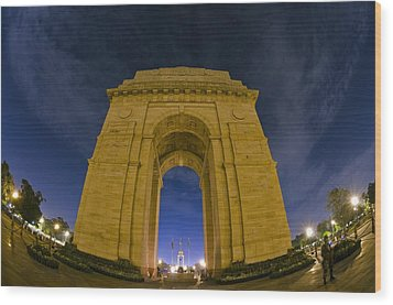 India Gate Wood Print by Aaron Bedell