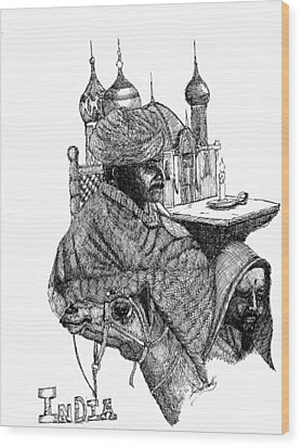 India Wood Print by Lee Halbrook