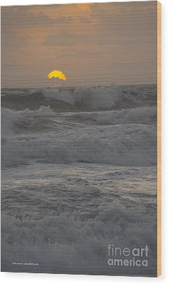 Indialantic Sunrise Wood Print by Tannis  Baldwin