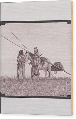 Indian Blackfoot Travis Wood Print by Billie Bowles