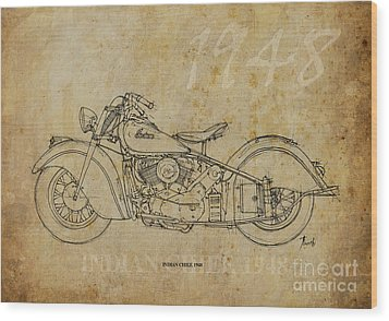 Indian Chief 1948 Wood Print by Pablo Franchi