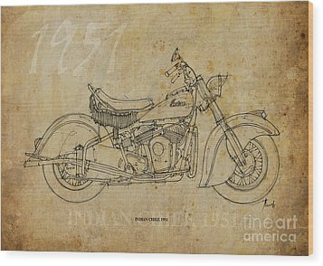 Indian Chief 1951 Wood Print by Pablo Franchi