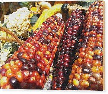 Wood Print featuring the photograph Indian Corn by Caryl J Bohn