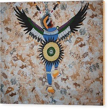 Indian Dance Wood Print by Linda Egland