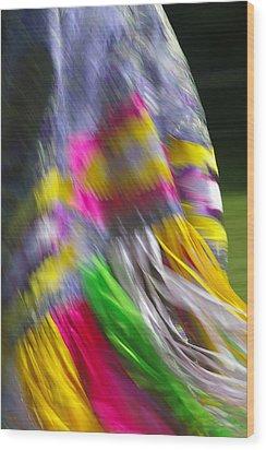 Indian Dance Wood Print by Randy Pollard