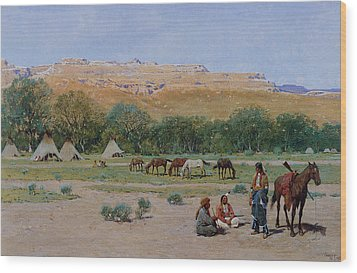 Indian Encampment Wood Print by Henry Farny