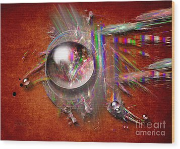 Indian Glass Balls Wood Print by Alexa Szlavics