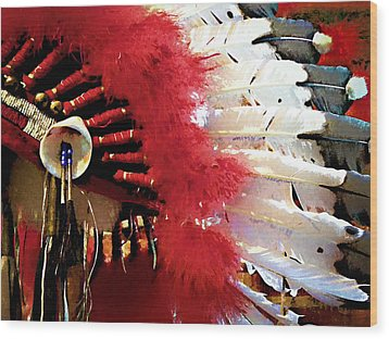 Indian Headdress Wood Print